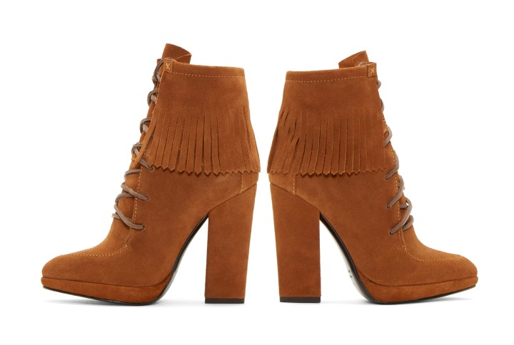 Brown Suede Fringed Ankle Boots de Giuzeppe Zanotti à 725 euros