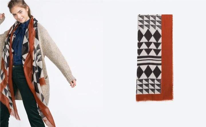 Foulard Zara à 5,99 euros